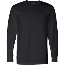 Dark Fruit of the Loom Best 50/50 Long Sleeve T-shirt for Promotion