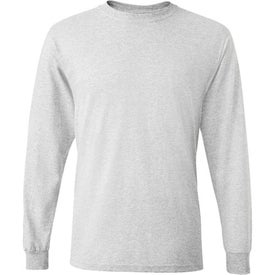 Dark Fruit of the Loom Best 50/50 Long Sleeve T-shirt Imprinted with Your Logo