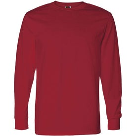 Dark Fruit of the Loom Best 50/50 Long Sleeve T-shirt with Your Logo