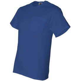 Promotional Dark Fruit of the Loom Best 50/50 Pocket T-shirt