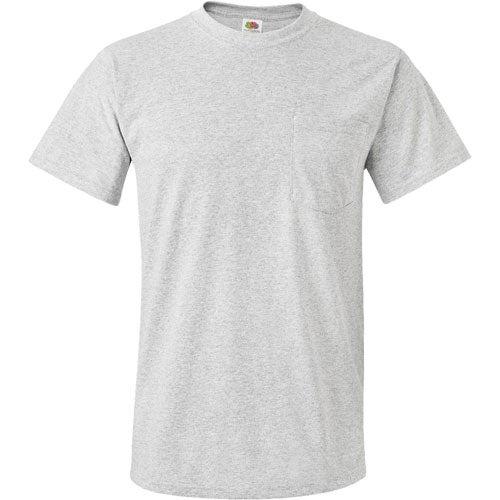 Dark fruit of the loom best 50 50 pocket t shirt custom for Fruit of the loom custom t shirts