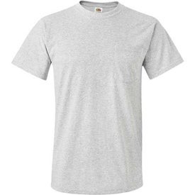 Light Fruit of the Loom Best 50/50 Pocket T-shirt for Advertising