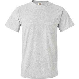 Light Fruit of the Loom Best 50/50 Pocket T-shirt for Advertising