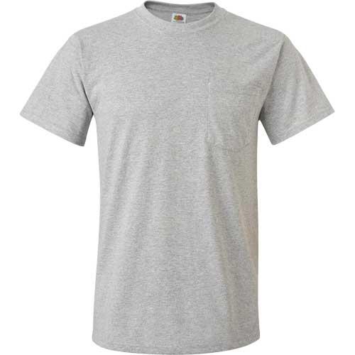 Light fruit of the loom best 50 50 pocket t shirt custom for Custom t shirt with pocket