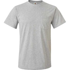 Light Fruit of the Loom Best 50/50 Pocket T-shirt