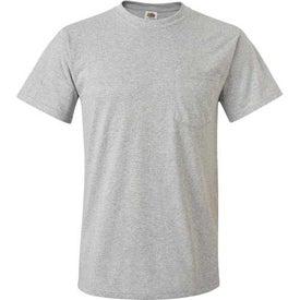 Light Fruit of the Loom Best 50/50 Pocket T-shirt