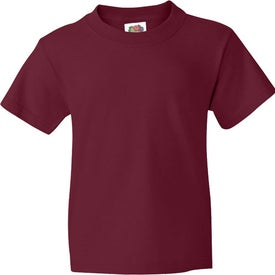 Logo Colored Fruit of the Loom Heavy Cotton Youth T-shirt