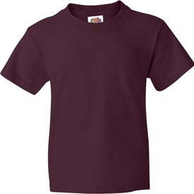 Colored Fruit of the Loom Heavy Cotton Youth T-shirt Branded with Your Logo