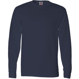 Fruit of the Loom Long Sleeve Cotton T-Shirt for Your Company