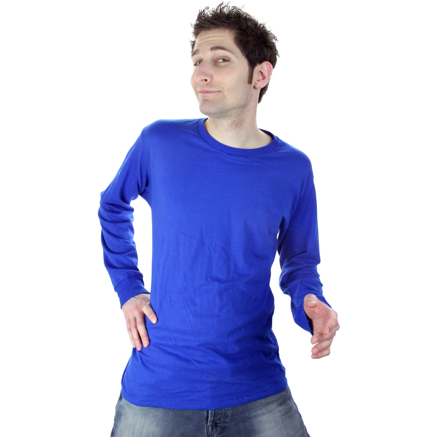Fruit of the loom long sleeve cotton t shirt colors for Long sleeve custom t shirts