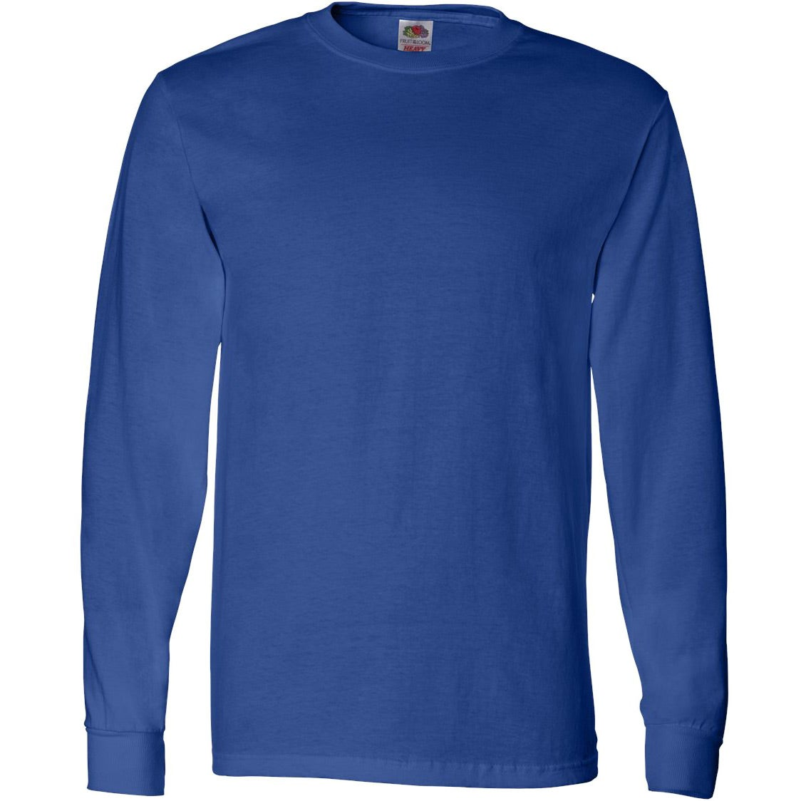 Custom fruit of the loom long sleeve cotton t shirt for Personalized long sleeve t shirts