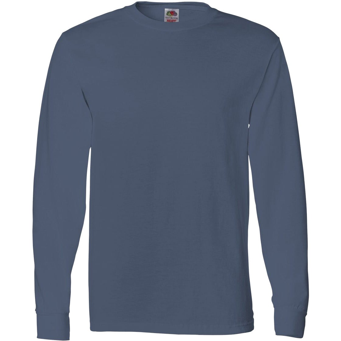 Imprinted fruit of the loom long sleeve cotton t shirt for Good quality long sleeve t shirts