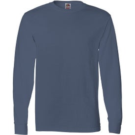 Imprinted Fruit of the Loom Long Sleeve Cotton T-Shirt