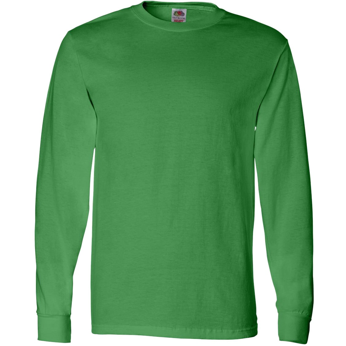 Logo fruit of the loom long sleeve cotton t shirt for Fruit of the loom custom t shirts