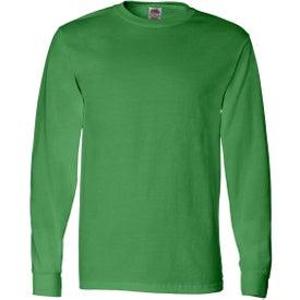 Logo Fruit of the Loom Long Sleeve Cotton T-Shirt