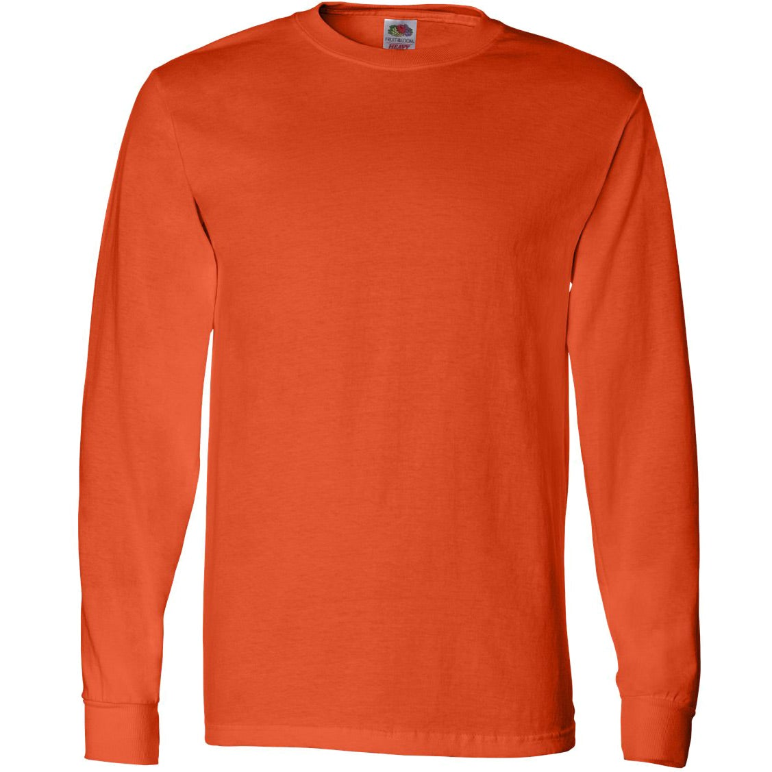 Fruit of the loom long sleeve cotton t shirt colors for Personalized long sleeve t shirts
