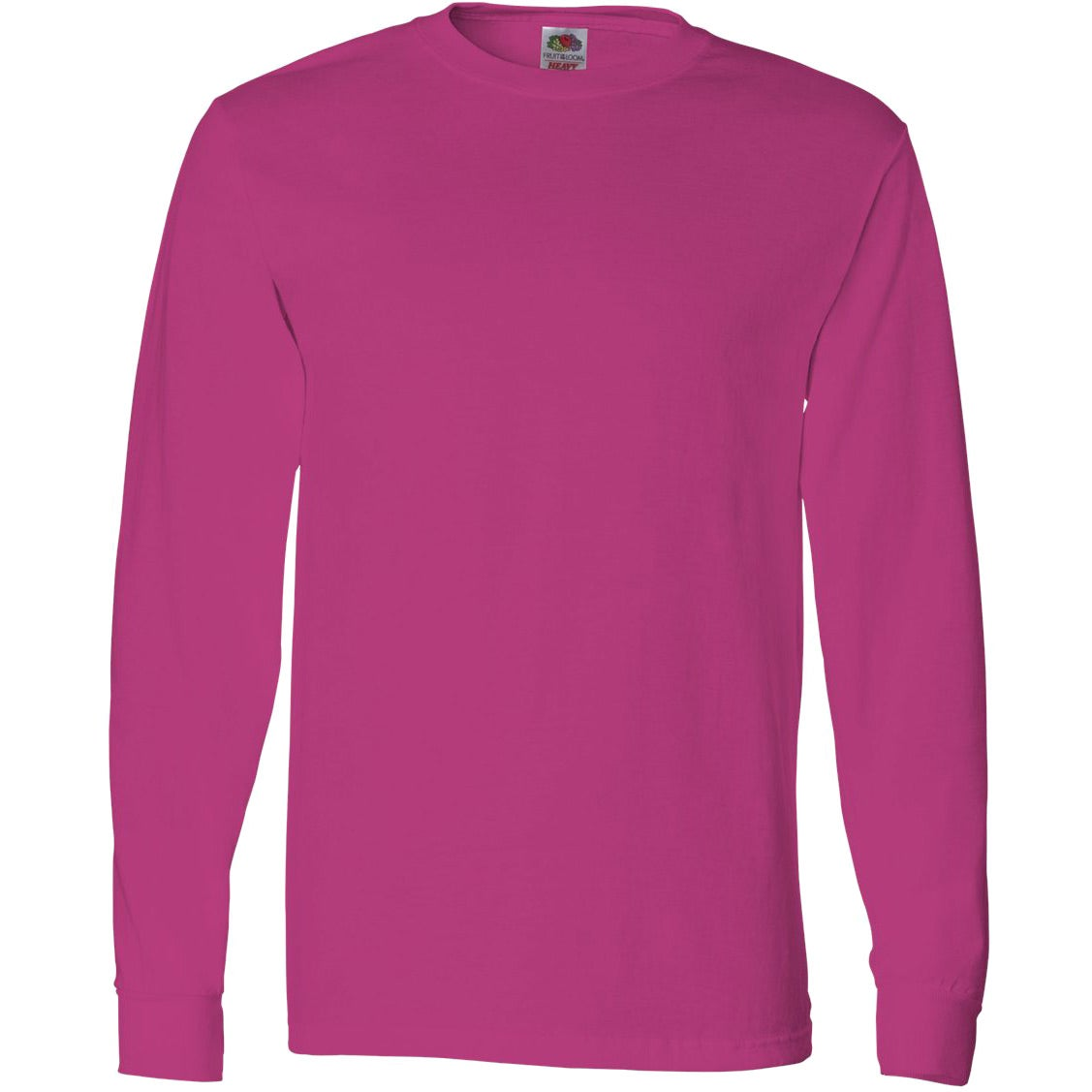 Fruit Of The Loom Long Sleeve Cotton T Shirt Colors