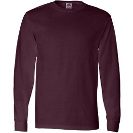 Fruit of the Loom Long Sleeve Cotton T-Shirt Printed with Your Logo