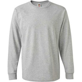 Light Fruit of the Loom Long Sleeve 5.6 Oz. Cotton Shirt