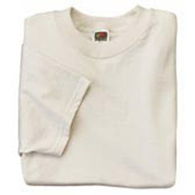 White Fruit of the Loom Heavy Cotton Youth T-shirt