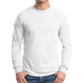 Gildan Dryblend 50 Cotton/50 Poly Long Sleeve T-Shirt (Men's, White)