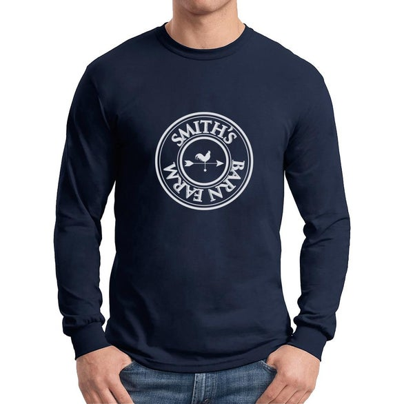 Navy Blue Gildan Dryblend 50 Cotton/50 Poly Long Sleeve T-Shirt