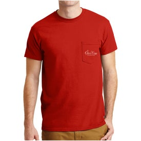 Gildan Dryblend 50 Cotton/50 Poly Pocket T-Shirt (Men's, Colors)
