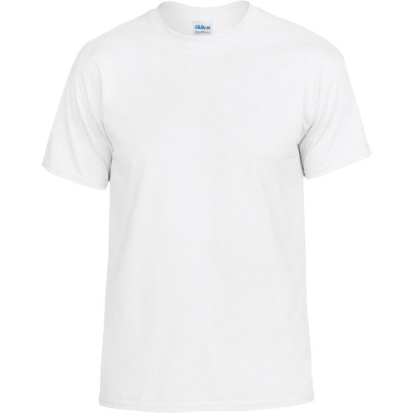 White Gildan Dryblend Classic Fit Adult White T-Shirt