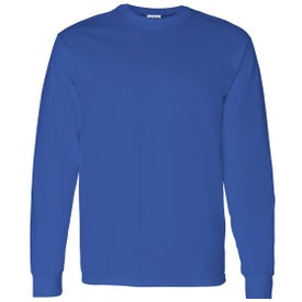 Promotional gildan heavy cotton long sleeve t shirts with for Personalized long sleeve t shirts