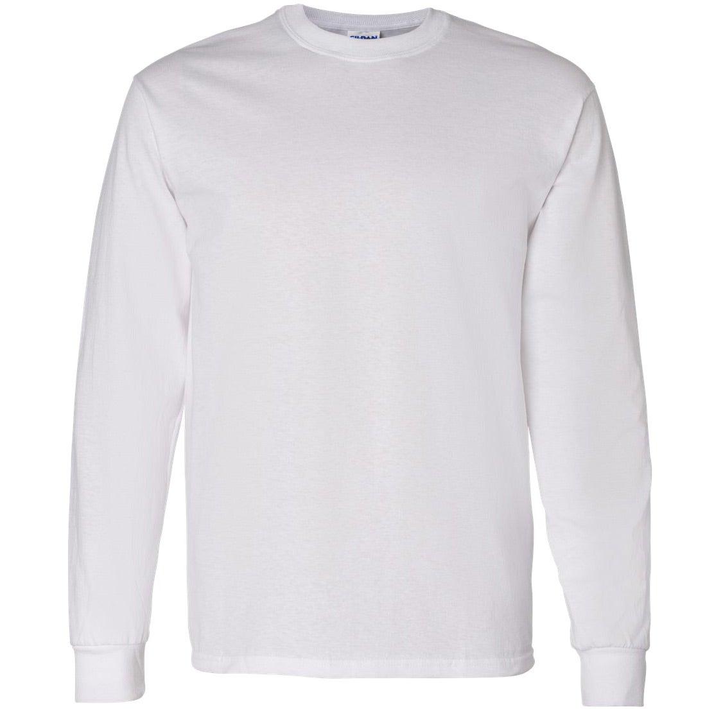 Promotional white gildan heavy cotton long sleeve t shirts for Long sleeve custom t shirts