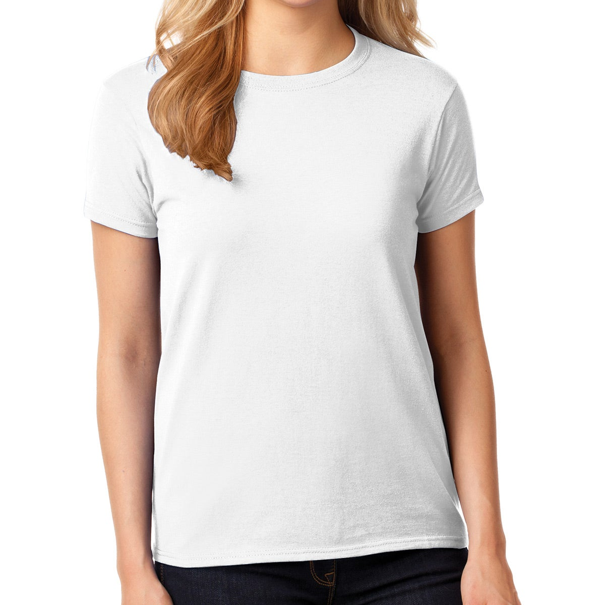 Gildan Heavy Cotton T-Shirt (Women's, White)