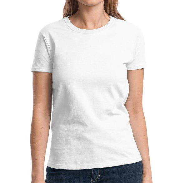 White Gildan Ladies' Ultra Cotton T-Shirt
