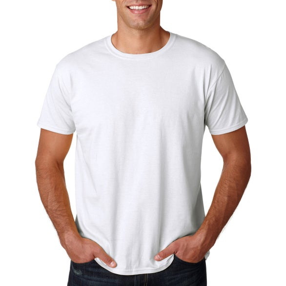 White Gildan Softstyle T-Shirt