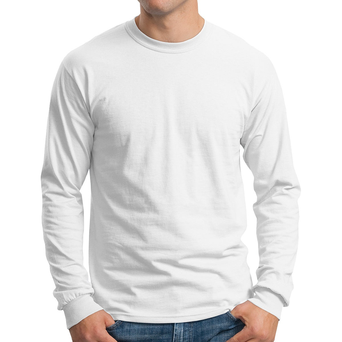 Gildan Ultra Cotton Long Sleeve T-Shirt (White)