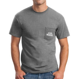 Gildan Ultra Cotton T-Shirt with Pocket (Men's, Colors)