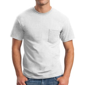 Gildan Ultra Cotton T-Shirt with Pocket (Men's, White)