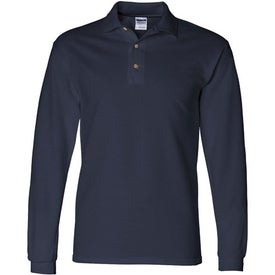 Personalized Gildan Ultra Cotton Long Sleeve Pique Sport Shirt