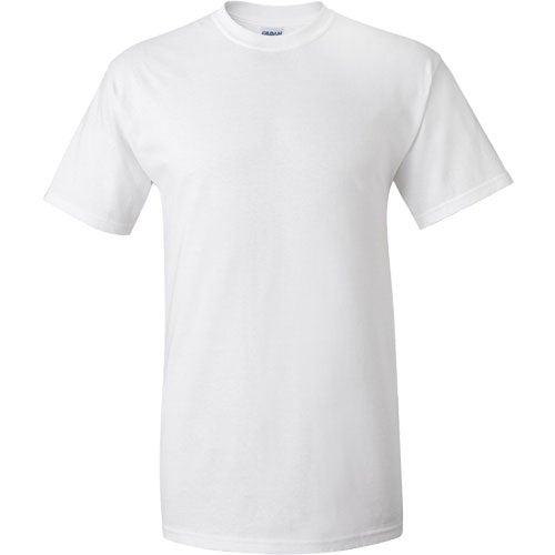 White gildan ultra cotton t shirt 100 cotton t shirts for Extra tall white t shirts