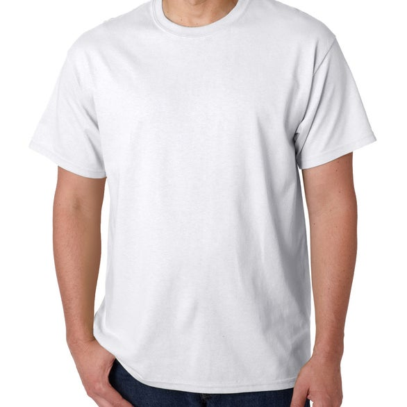 White Gildan Pre Shrunk Heavy Cotton T-Shirt