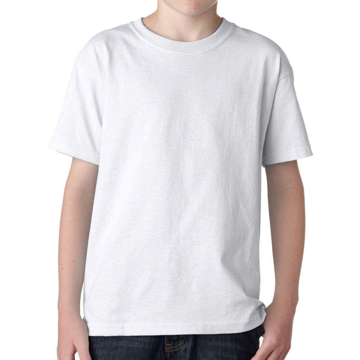 Promotional white gildan youth heavy cotton t shirts with for Custom cotton t shirts