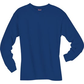 Dark Hanes Beefy-T 6.1 Oz. Ringspun Long Sleeve Imprinted with Your Logo