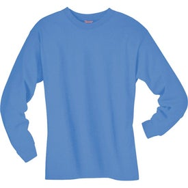 Dark Hanes Beefy-T 6.1 Oz. Ringspun Long Sleeve with Your Logo