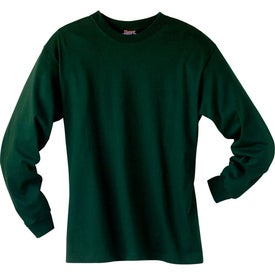 Dark Hanes Beefy-T 6.1 Oz. Ringspun Long Sleeve for Your Company