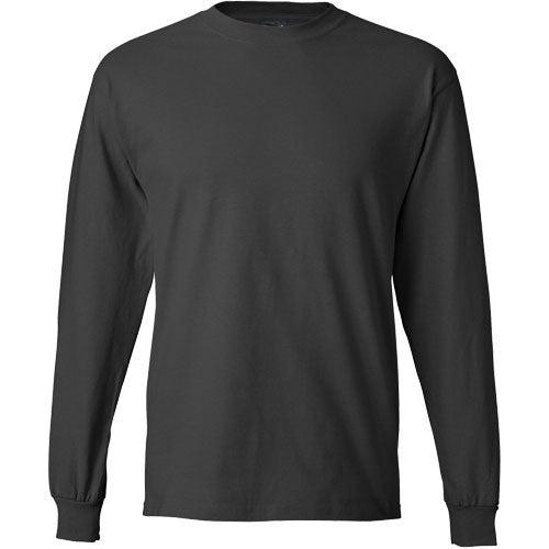 Dark hanes beefy t 6 1 oz ringspun long sleeve long for Long sleeve custom t shirts