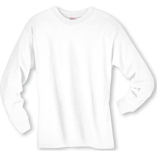 White Hanes Beefy-T 6.1 Oz. Ringspun Long Sleeve