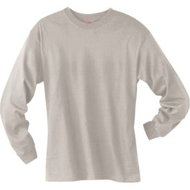Personalized Light Hanes Beefy-T 6.1 Oz. Ringspun Long Sleeve