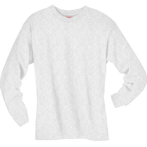 Light hanes beefy t 6 1 oz ringspun long sleeve long for Good quality long sleeve t shirts