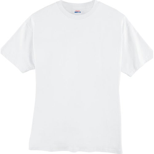 White Hanes Beefy T-Shirt
