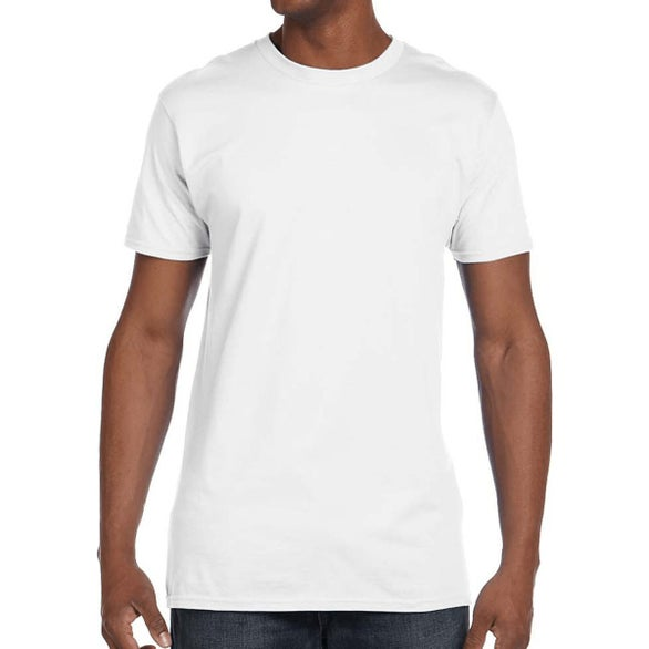 White Hanes Men's Nano-T Cotton T-Shirt