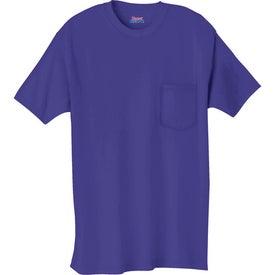 Monogrammed Dark Hanes Beefy-T 100% Cotton Pocketed T-Shirt